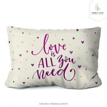 Lavendelkissen 26x21cm mit Produkteinleger Motiv 014 Love is all you need